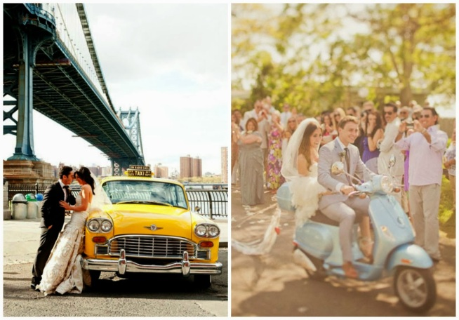 transporte noiva - carro da noiva - carro dos noivos - taxi - moto - vintage - noivos
