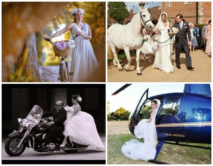 transporte noiva - carro da noiva - carro dos noivos - bicicleta - cavalo - moto - helicoptero - entrada noiva