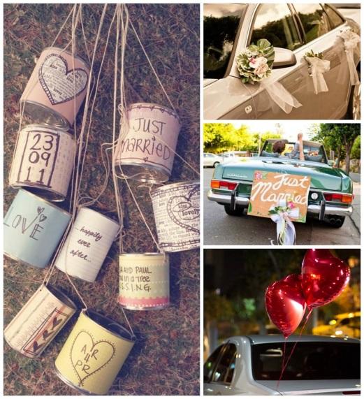 transporte noiva - carro da noiva - carro dos noivos - latinhas - carro decorado - carro personalizado - carro flores - carro baloes - carro plaquinha just marriage
