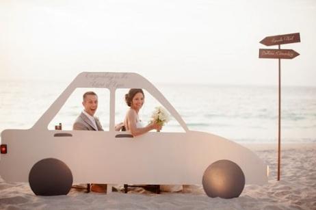 transporte noivos - carro da noiva - carro dos noivos - noivos - photobooth - casamento na praia
